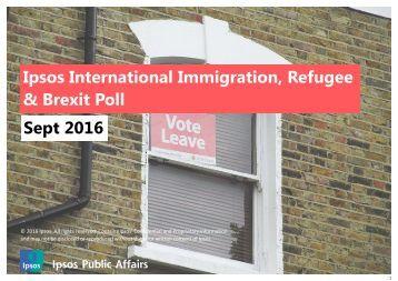 Ipsos International Immigration Refugee & Brexit Poll Sept 2016