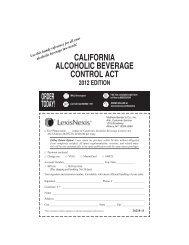CALIFOrNIA ALCOhOLIC BeverAge CONtrOL ACt - Department of ...