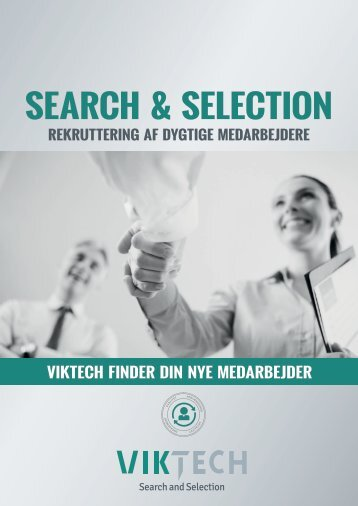 Rekrutterings brochure fra Viktech Search and Selection