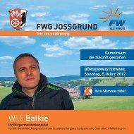 Flyer Willi Balkie zur Bürgermeisterwahl am 5. März 2017