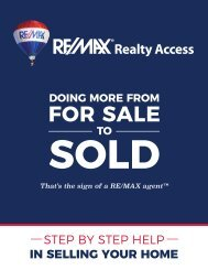RE/MAX Realty Access: Step by Step Help in Selling Your Home