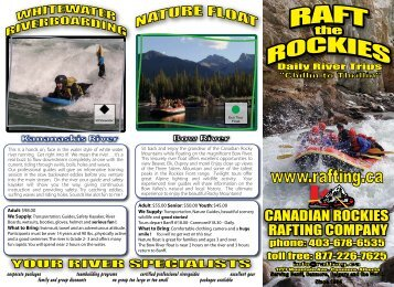 Raft the Rockies. Daily River Trips