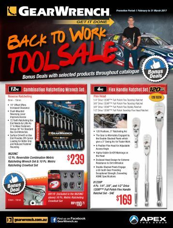 GearWrench Back To Work Tool Sale