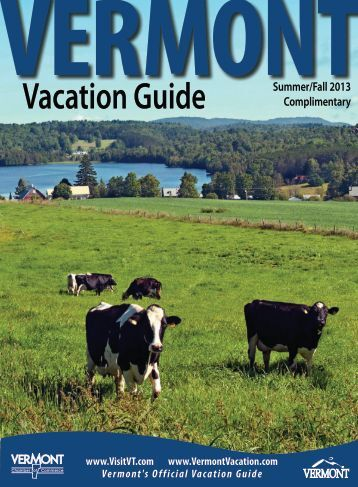Vermont Vacation Guide Summer 2013