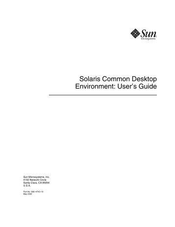 Solaris Common Desktop Environment: User's Guide