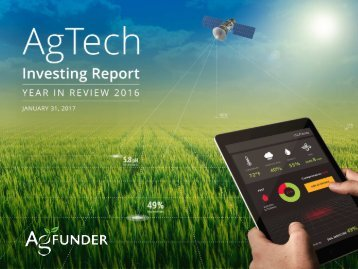 AGTECH FUNDING REPORT 2014 YEAR IN REVIEW | AGFUNDER.COM