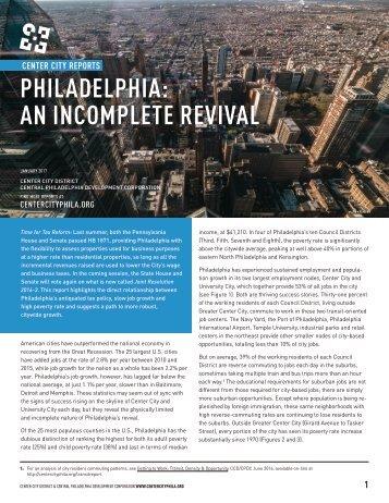 PHILADELPHIA AN INCOMPLETE REVIVAL