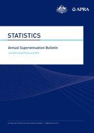 Annual Superannuation Bulletin