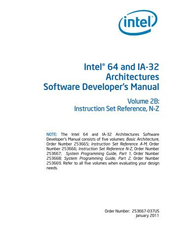 intel 64 and ia 32 architectures software developer s manual rh yumpu com Reference Manual Clip Art User Manual