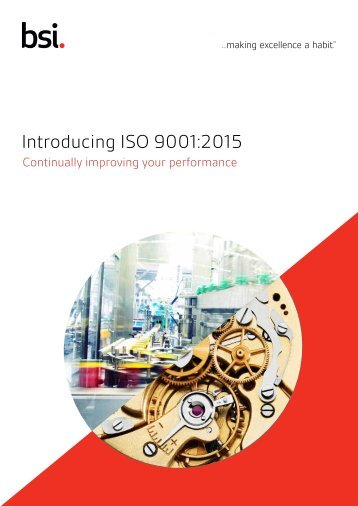Introducing ISO 9001:2015