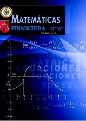 Materia de Matematicas 2 A