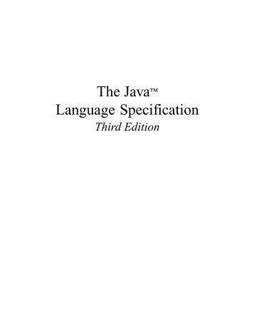 The Java Language Specification, Third Edition