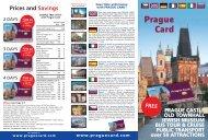 Prague Card Flyer 2014