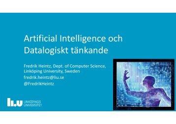 Artificial Intelligence och Datalogiskt tänkande