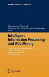 Intelligent Information Processing and Web Mining : Proceedings of ...
