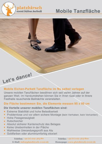 Mobile Tanzflächen von VGM