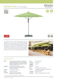 Glatz Marktschirm Castello M4
