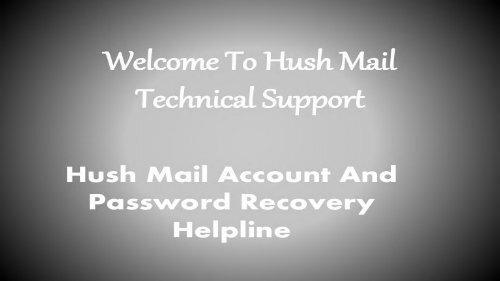 Hushmail Toll Free Number/Helpline Number @1.844.449.0455