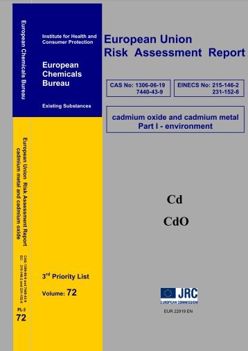 European Union Risk Assessment Report - JRC  Publications ...