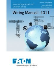 Wiring Manual | 2011 - Moeller