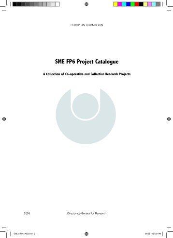 SME FP6 Project Catalogue - Enterprise Europe Network