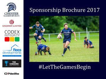 Sponsorship Brochure 2017 #LetTheGamesBegin