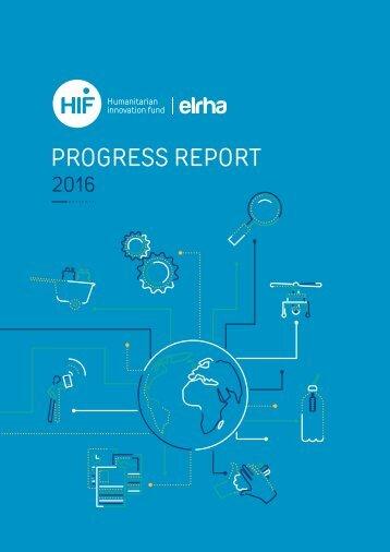 ELRHA - HIF Progress Report 2016