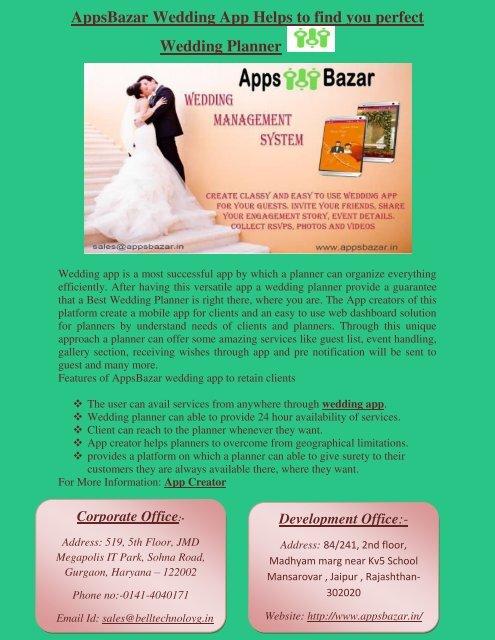 Wedding Planner App.Appsbazar Wedding App Helps To Find You Perfect Wedding Planner