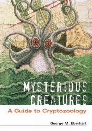 Mysterious Creatures : A Guide to Cryptozoology