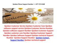 Quicken Technical Support Number 1-877-374-0468