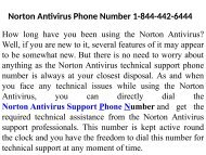 Norton Antivirus Support Number  1-844-442-6444