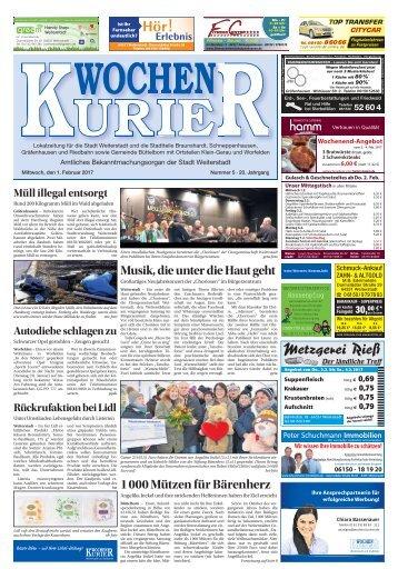 Wochen-Kurier 5/2017 - Lokalzeitung für Weiterstadt und Büttelborn