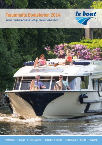 2014 European Boating Holidays