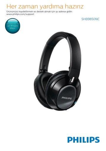 Philips Casque à réduction de bruit sans fil - Mode d'emploi - TUR