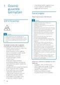 Philips Casque à réduction de bruit sans fil - Mode d'emploi - TUR - Page 4