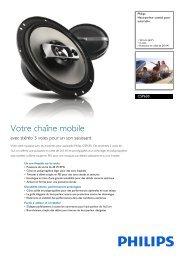 Philips Haut-parleur coaxial pour autoradio - Fiche Produit - FRA