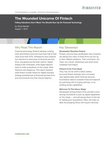 The Wounded Unicorns Of Fintech