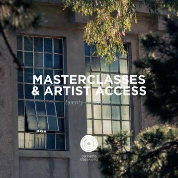 Canberra Glassworks Masterclasses & Artist Access