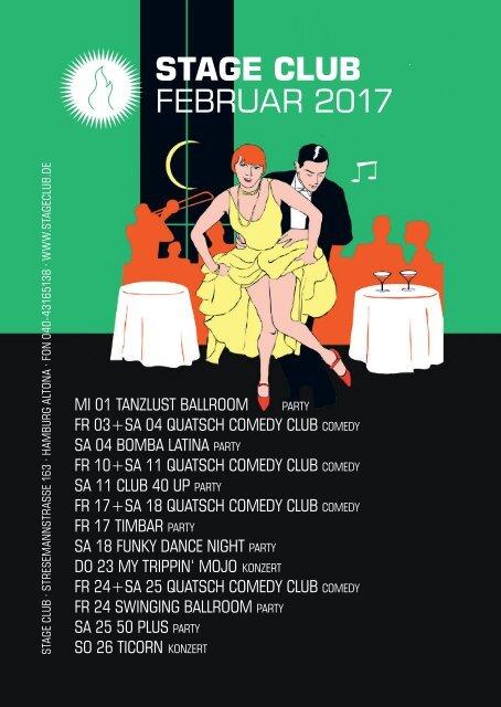 Clubplan Hamburg - Februar 2017