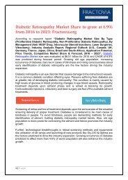 Diabetic Retinopathy Market share to reach USD 11.1 billion by 2023
