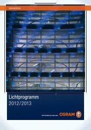 Lichtprogramm 2012/2013 - Osram