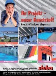 Ihr Projekt - unser Kunststoff - Steba Kunststoffe AG