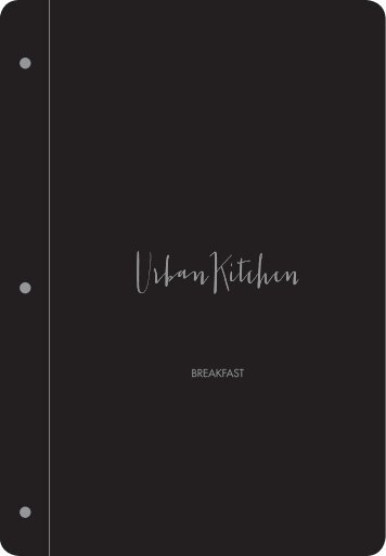 Dusit Abu Dhabi-Urban Kitchen-Breakfast Menu