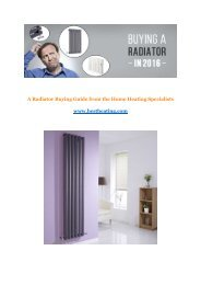 A Radiator Buying Guide from the Home Heating Specialists