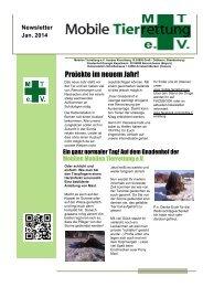 Newsletter der Mobilen Tierrettung 2014