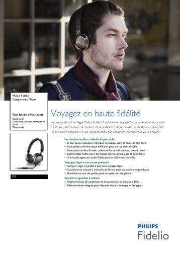 Philips Fidelio Casque avec Micro - Fiche Produit - FRA