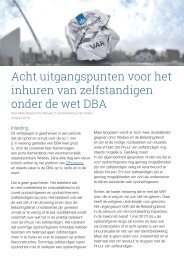 Acht uitgangspunten voor het inhuren van zelfstandigen onder de wet DBA