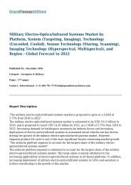 Military Electro-Optics/Infrared Systems Market - Global Forecast to 2022