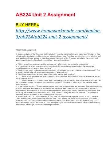 AB224 Unit 2 Assignment