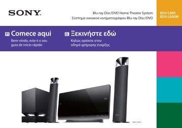 Sony BDV-L800 - BDV-L800 Guida di configurazione rapid Greco